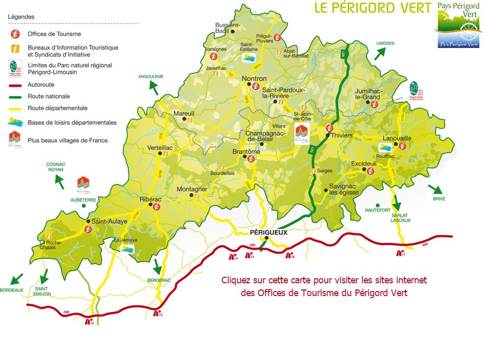 périgord noir carte touristique Vos vacances en Dordogne   Tourisme Périgord Vert